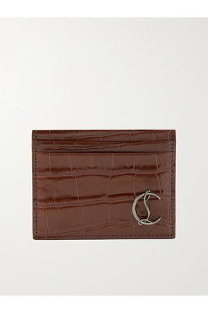 Christian Louboutin Heren Portefeuilles - Croc-Effect Leather Cardholder