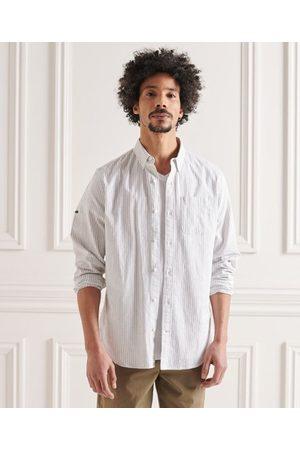 Superdry Heren Overhemden - Overhemd van katoen en linnen met lange mouwen