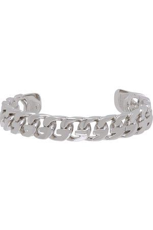 Givenchy Silver G Chain Open Bangle Bracelet