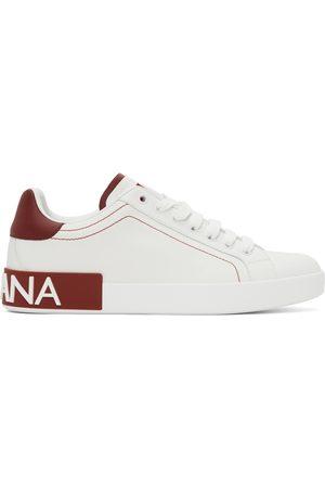 Dolce & Gabbana Heren Sneakers - White & Red Portofino Sneakers