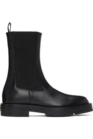 Givenchy Dames Enkellaarzen - Black Leather Chelsea Boots