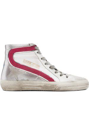 Golden Goose Pink & Silver Slide Sneakers
