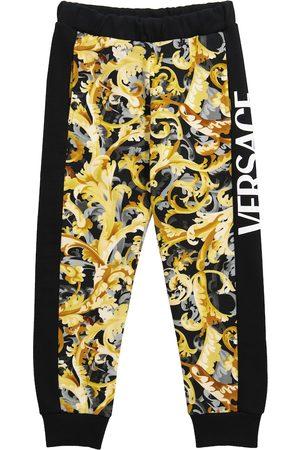VERSACE Printed cotton sweatpants