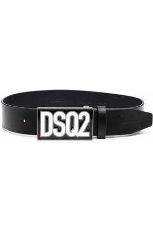 Dsquared2 Logo-plaque leather belt