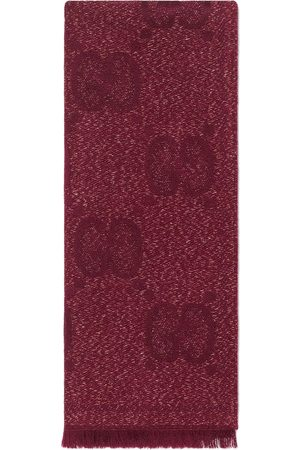 Gucci GG jacquard knitted scarf