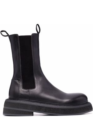 MARSÈLL Chunky leather Chelsea boots