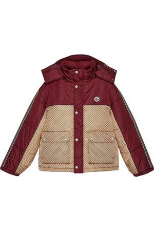 Gucci GG parachute padded colour-block jacket