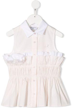 MONNALISA Ruffle striped blouse