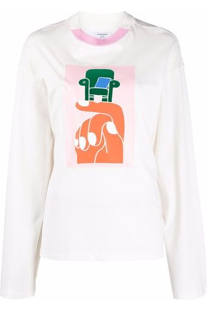 Opening Ceremony Hand chair print long sleeve T-shirt