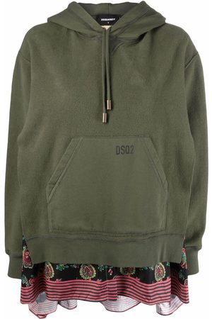 Dsquared2 Panelled pullover logo-print hoodie