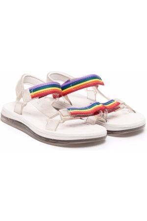 Mini Melissa Papete + Rider I striped sandals