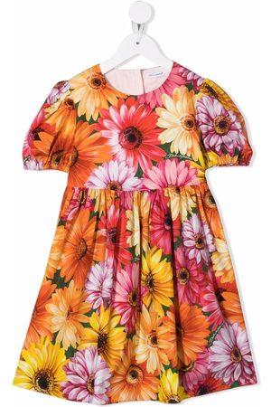 Dolce & Gabbana Floral-print short-sleeve dress
