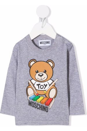 Moschino Bear logo print sweatshirt
