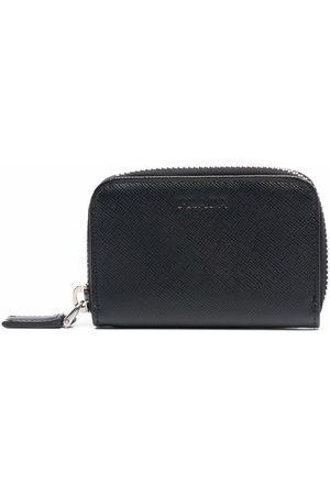Prada Debossed-logo textured-finish wallet