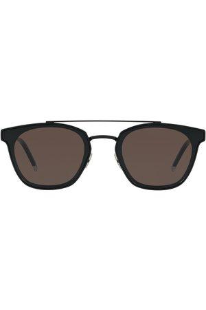 Saint Laurent Double-bridge round sunglasses