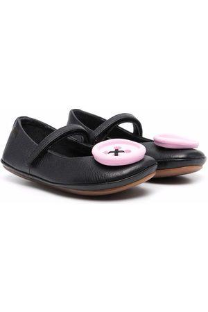Camper Button-detail leather ballerinas
