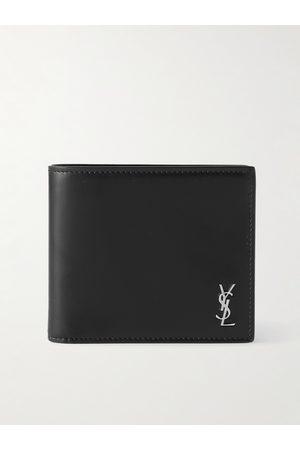 SAINT LAURENT Heren Portefeuilles - Logo-Appliquéd Leather Billfold Wallet