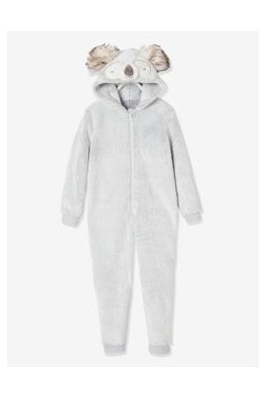 Vertbaudet Fluwelen meisjespyjamapak koala gechineerd lichtgrijs