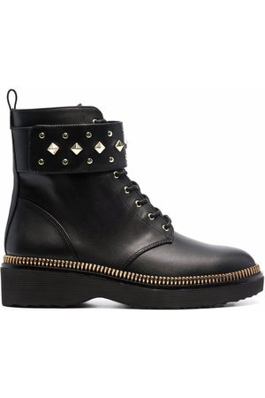 Michael Kors Haskell spike-strap leather boots