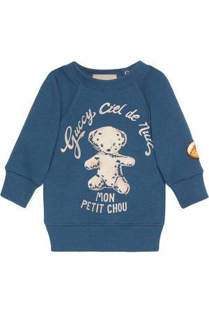 Gucci Sweaters - Logo-print crew neck sweatshirt