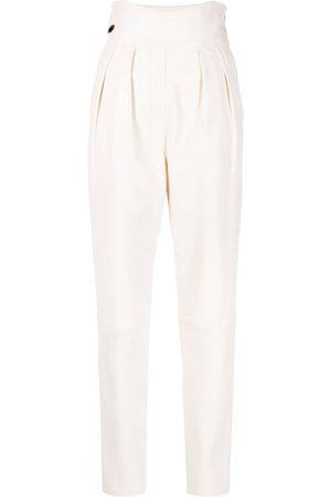 Philipp Plein High-waisted leather trousers