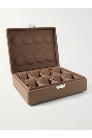 Scatola del Tempo Heren Horloges - Full-Grain Leather Watch Box