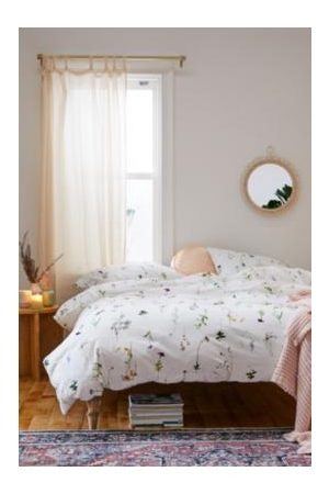 Urban Outfitters Lola Floral Duvet Cover Set With Reusable Fabric Bag
