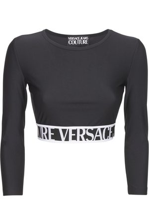 VERSACE JEANS COUTURE Stretch Jersey Crop Top