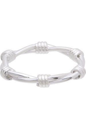 Stolen Girlfriends Club Silver Skinny Barbed Wire Ring