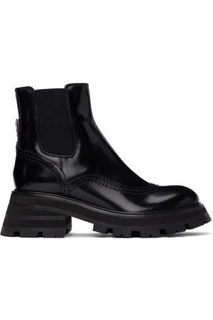 Alexander McQueen Black Wander Chelsea Boots