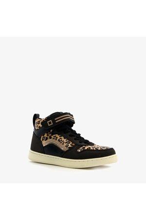 Blue Box Meisjes Sneakers - Hoge meisjes sneakers met luipaard print