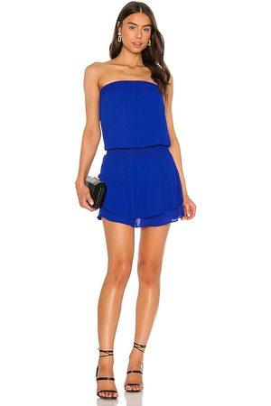 krisa Dames Strapless jurken - Smocked Strapless Mini Dress in