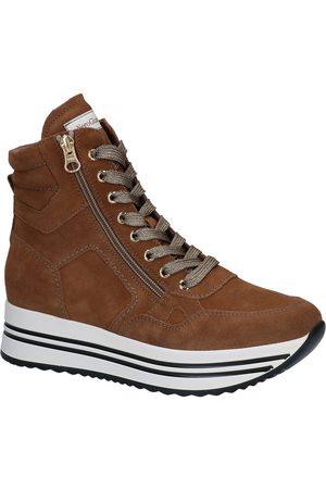 Nero Giardini Dames Hoge sneakers - Cognac Sneakers
