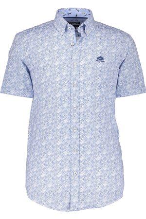 State of art Heren Overhemden - Overhemd blauwe katoen grafisch dessin