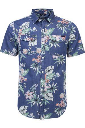 Superdry Overhemd korte mouw denim