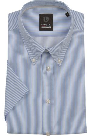 Eagle & Brown Heren Overhemden - Casual overhemd korte mouw streep