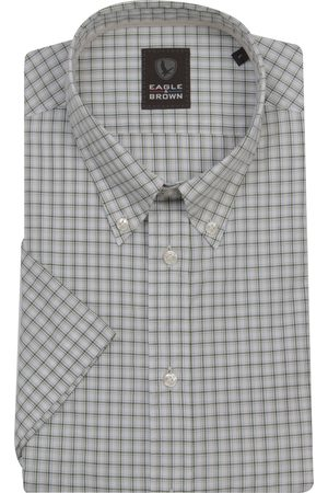 Eagle & Brown Heren Overhemden - Katoenen casual overhemd korte mouw ruit