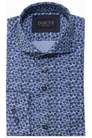 Duetz1857 Heren Overhemden - Duetz 1857 dress overhemd print blauw