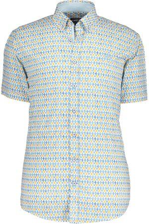 State of art Heren Overhemden - Overhemd grijs/ met print en korte mouwen