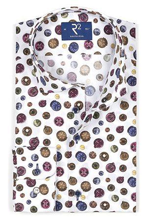 R2 Amsterdam Overhemd lange mouw print multi