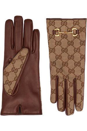 Gucci Dames Handschoenen - Gg Canvas Gloves W/ Horsebit