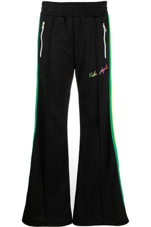 Palm Angels Miami logo flared track pants