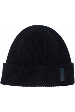 Giorgio Armani Logo-patch cashmere-knit beanie