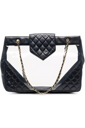 CHANEL 2004 diamond-quilted beach bag