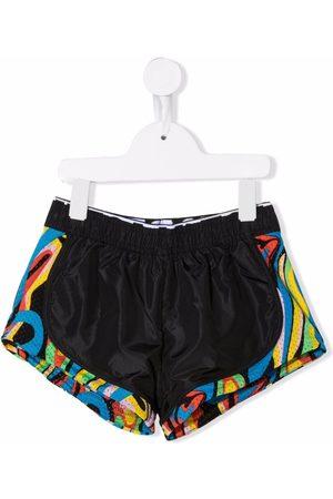 Stella McCartney Kids Abstract-print panelled shorts
