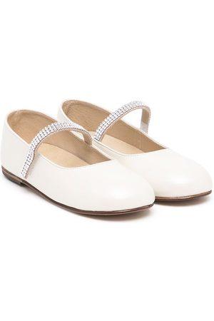 BabyWalker Crystal-embellished ballerina shoes