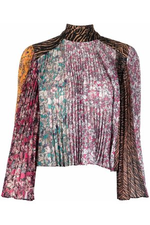 Pinko Floral-print panelled blouse