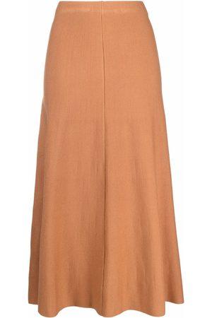 Pinko Dames Rokken - Ribbed-knit high-waist skirt