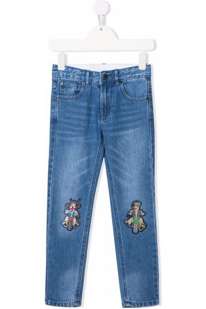 Stella McCartney Kids Jongens Straight - Cartoon-patch straight-leg jeans