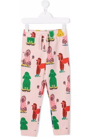 Stella McCartney Kids Doodle Poodles print track pants